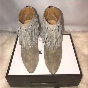 Nine West Fringed booties